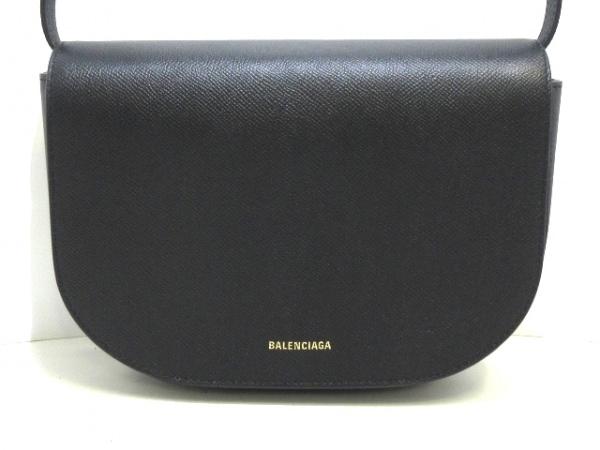 バレンシアガ ショルダーバッグ美品  ヴィル デイバッグ S 542207 黒 レザー