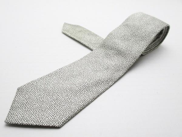 GIORGIOARMANI(ジョルジオアルマーニ) ネクタイ メンズ ライトグレー×黒