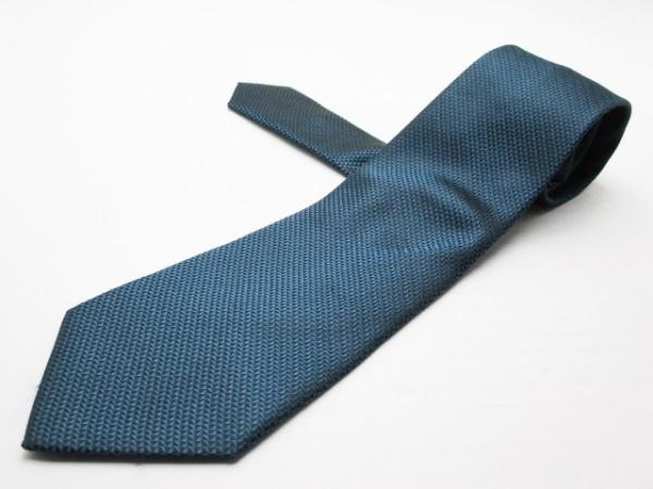GIORGIOARMANI(ジョルジオアルマーニ) ネクタイ メンズ ブルーグリーン×黒