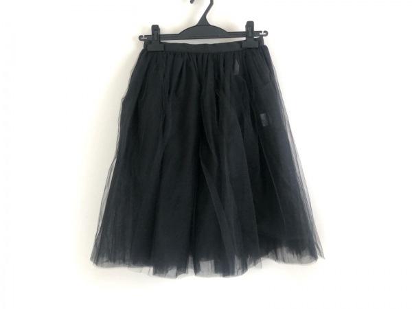シャルルアナスタス スカート サイズS レディース美品  黒 チュール