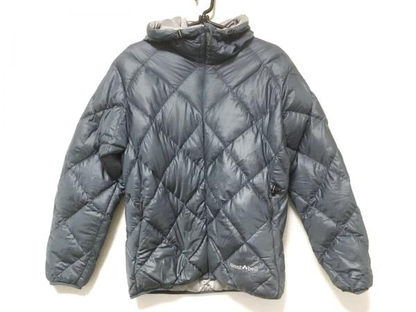 モンベル ダウンジャケット サイズS レディース ブルー 冬物/折り畳み/収納ポーチ