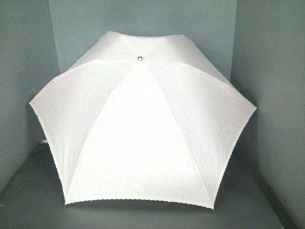 Burberry(バーバリー) 折りたたみ傘美品  ピンク 刺繍/日傘 キャンバス