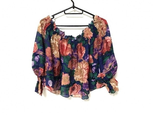 AULA(アウラ) 七分袖カットソー サイズ0 XS レディース美品  花柄