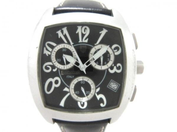 LANCASTER(ランカスター) 腕時計 0251 レディース 革ベルト/クロノグラフ 黒