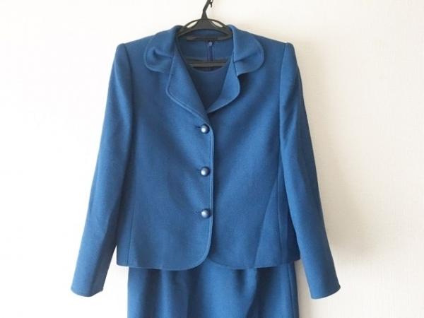 JUN ASHIDA(ジュンアシダ) ワンピーススーツ サイズ11 M レディース美品  ブルー