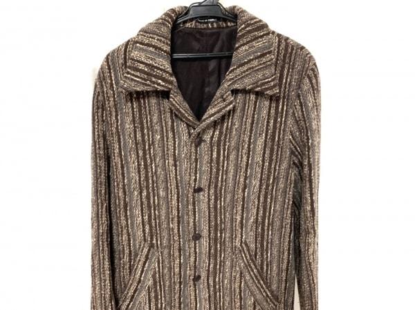 アニエスベー コート サイズ52 XL レディース新品同様  homme/冬物/ストライプ
