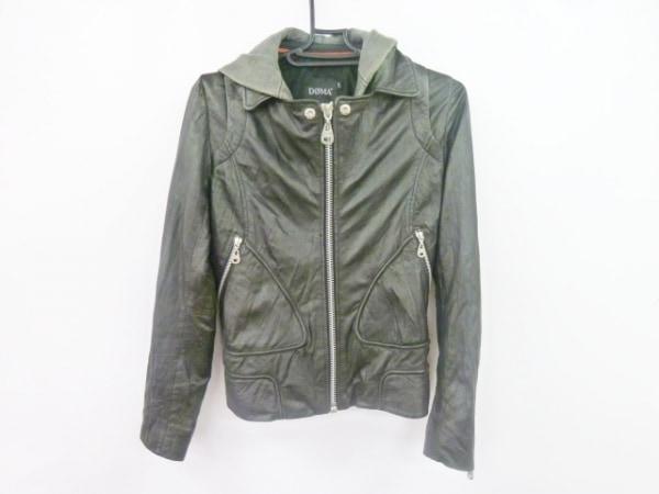 DOMA(ドマ) ライダースジャケット サイズXS レディース美品  黒 羊革/ジップアップ