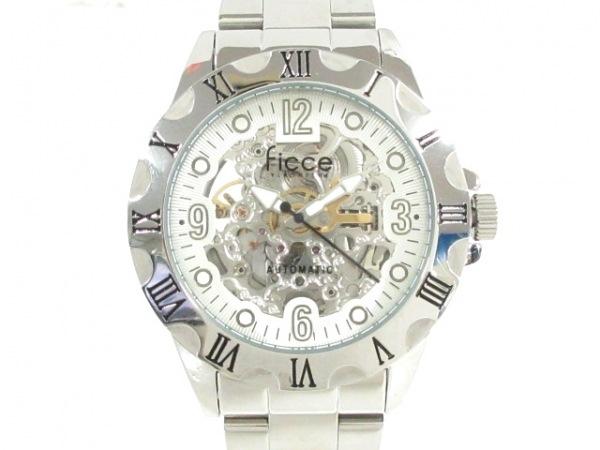 FICCE(フィッチェ) 腕時計美品  FC-11074 メンズ 裏スケ 白