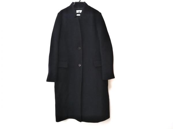 ナノユニバース コート サイズ38 M レディース美品  ダークネイビー 冬物