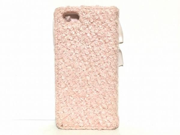 Maison de FLEUR(メゾンドフルール) 携帯電話ケース ピンク 化学繊維×サテン