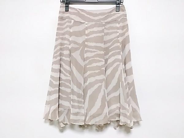 MATERIA(マテリア) スカート サイズ38 M レディース ベージュ×アイボリー シースルー