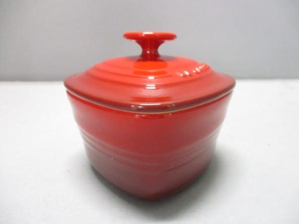 LE CREUSET(ルクルーゼ) 食器新品同様  レッド ハート/ココット 陶器