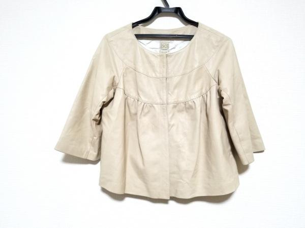 Cinquanta(チンクアンタ) ジャケット サイズ38 M レディース美品  ベージュ レザー