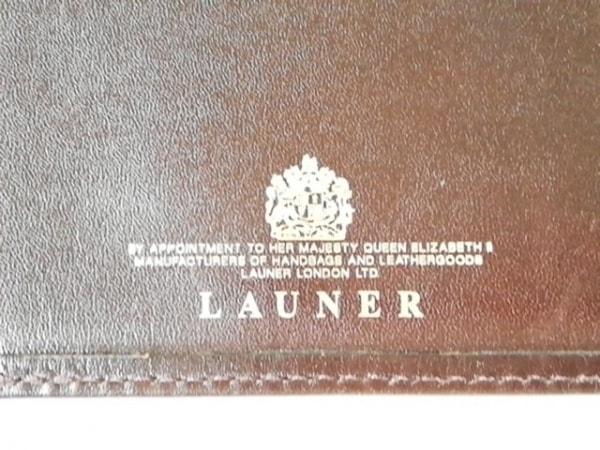 LAUNER(ロウナー) 札入れ ダークブラウン レザー 5