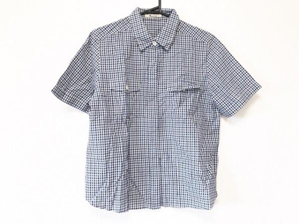 アクアスキュータム 半袖シャツブラウス レディース美品  ブルー×黒×白 チェック柄