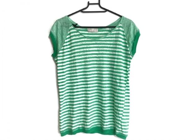 ロベルトコリーナ Tシャツ サイズS レディース グリーン×白 ボーダー