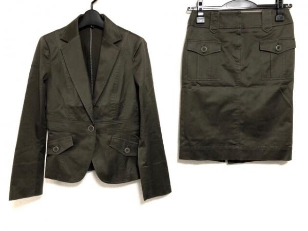ICB(アイシービー) スカートスーツ サイズ9 M レディース美品  カーキ