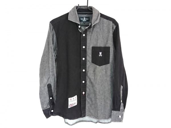 PsychoBunny(サイコバニー) 長袖シャツ サイズM メンズ 黒×ダークグレー