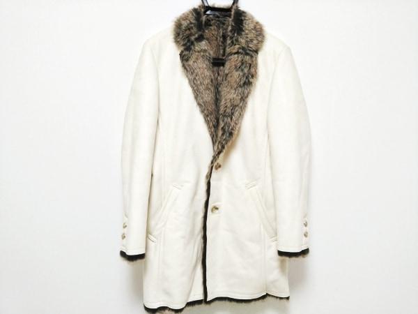 MEN'S TENORAS(メンズティノラス) コート メンズ 白×ブラウン 冬物