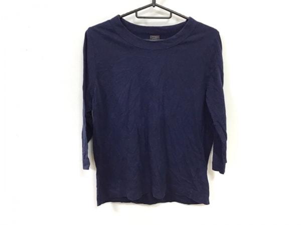homspun(ホームスパン) 七分袖Tシャツ サイズL レディース ネイビー