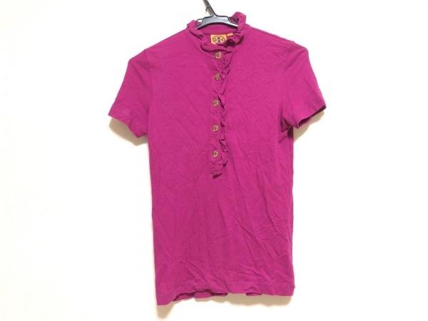TORY BURCH(トリーバーチ) 半袖ポロシャツ サイズXS レディース ピンク フリル
