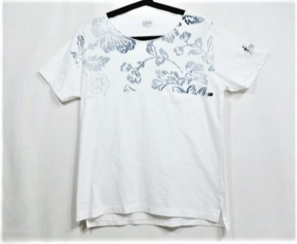 エンジニアードガーメンツ 半袖Tシャツ サイズ2 M レディース美品  白×ネイビー 花柄