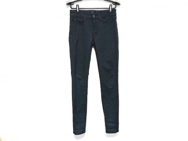 VINCE(ヴィンス) パンツ サイズ26 S レディース美品  黒 花柄/ストレッチ素材