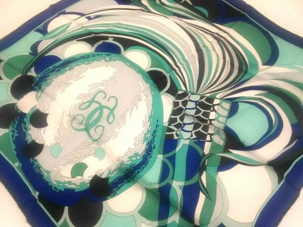 EMILIO PUCCI(エミリオプッチ) スカーフ新品同様  ライトブルー×ブルー×マルチ