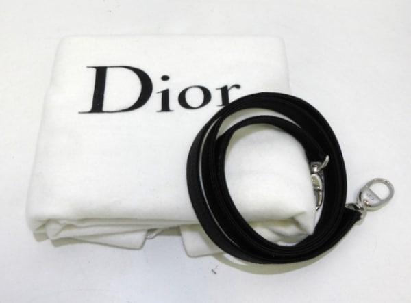 クリスチャンディオール ハンドバッグ美品  レディディオール CNR41528 黒 サテン