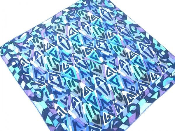 LIBERTY(リバティ) スカーフ ブルー×マルチ
