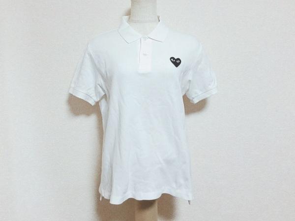 プレイコムデギャルソン 半袖ポロシャツ サイズL レディース 白