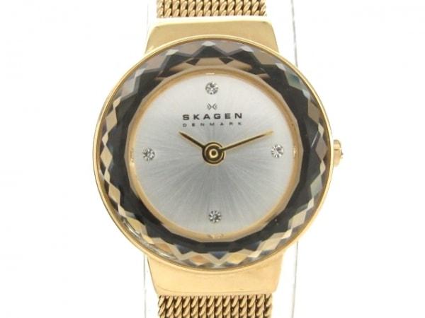 SKAGEN(スカーゲン) 腕時計美品  SKW2186 レディース ラインストーン シルバー