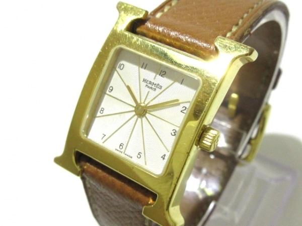 HERMES(エルメス) 腕時計 Hウォッチ HH1.210 レディース □A アイボリー