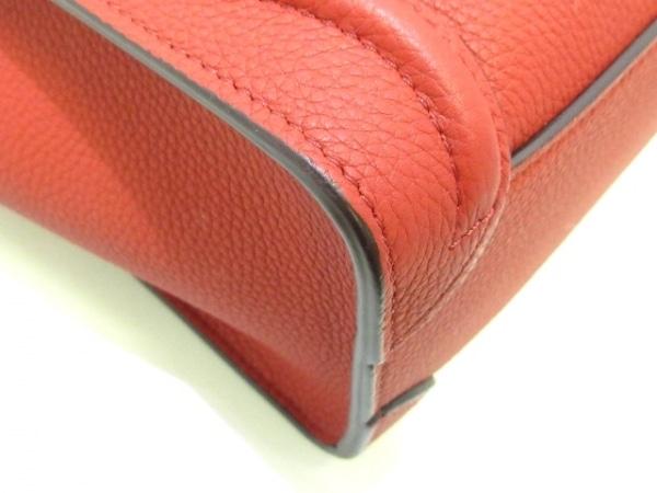 CELINE(セリーヌ) トートバッグ美品  ラゲージナノショッパー 168243AQL.27ED レッド