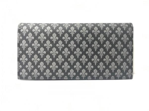 PATRICK COX(パトリックコックス) 長財布 黒×グレー PVC(塩化ビニール)