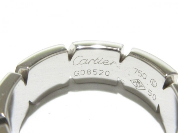 Cartier(カルティエ) リング 50美品  タンクフランセーズ K18WG 6