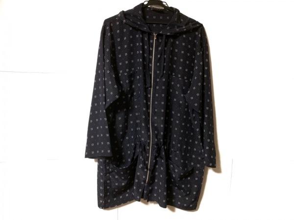 ノーマカマリ コート サイズ9 M レディース美品  ネイビー×白 春・秋物