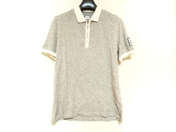 モンクレール 半袖ポロシャツ メンズ MAGLIA POLO 83138-00-82874 グレー×アイボリー