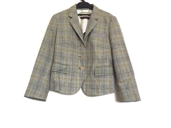 PaulSmith(ポールスミス) ジャケット サイズ40 L レディース グレー×イエロー×白