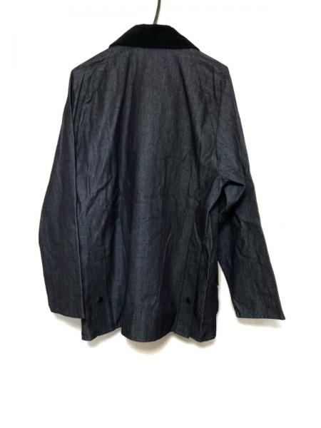 バーブァー ブルゾン サイズ40 M メンズ美品  ネイビー×黒 ジップアップ/春・秋物