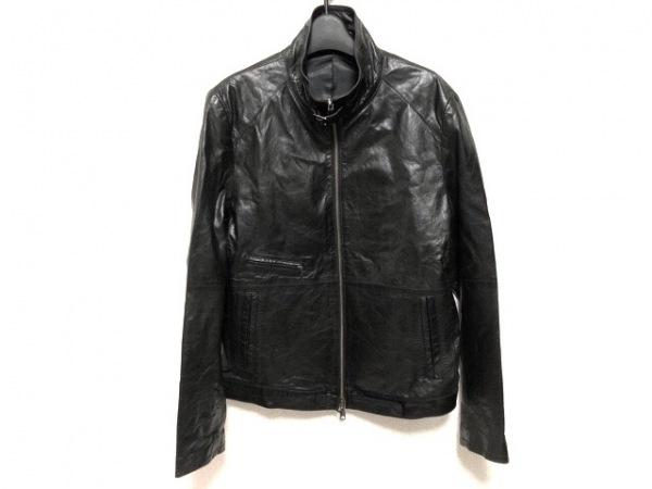 COMME CA MEN(コムサメン) ライダースジャケット サイズM メンズ 黒 冬物/レザー