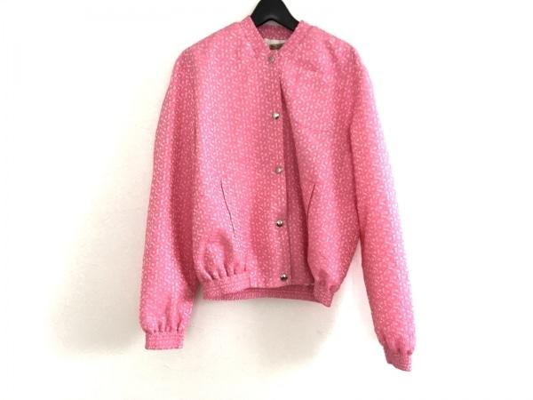 ピーターイェンセン ブルゾン サイズS レディース美品  ピンク フラワー
