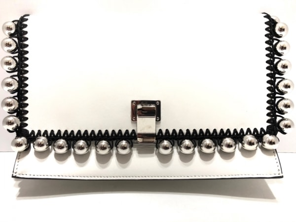 Proenza Schouler(プロエンザスクーラー) クラッチバッグ美品  白×黒×シルバー