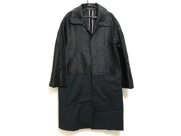 アレッサンドロデラクア コート サイズ38 M レディース 黒 切替/ロング丈/春・秋物