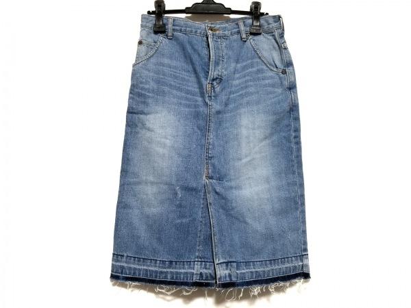 MUVEIL(ミュベール) スカート サイズ38 M レディース ライトブルー デニム/イチゴ