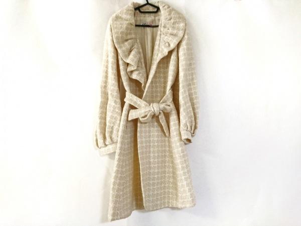 ウンガロフューシャ コート サイズ40 M レディース美品  アイボリー×白 冬物