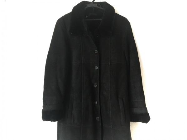 ストラネス コート サイズ40 M レディース 黒 GABRIELE STREHLE/ムートン/冬物