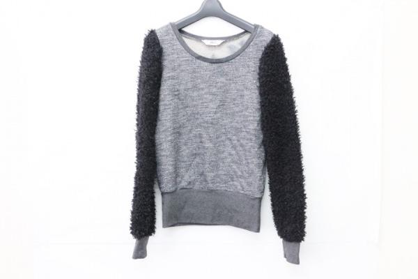 WLG(ダブルエルジー) 長袖セーター サイズ40 M レディース グレー×黒