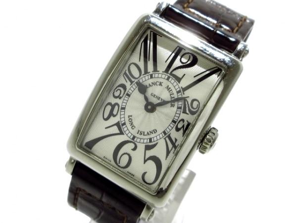 フランクミュラー 腕時計 ロングアイランド 902QZ レディース SS/革ベルト シルバー