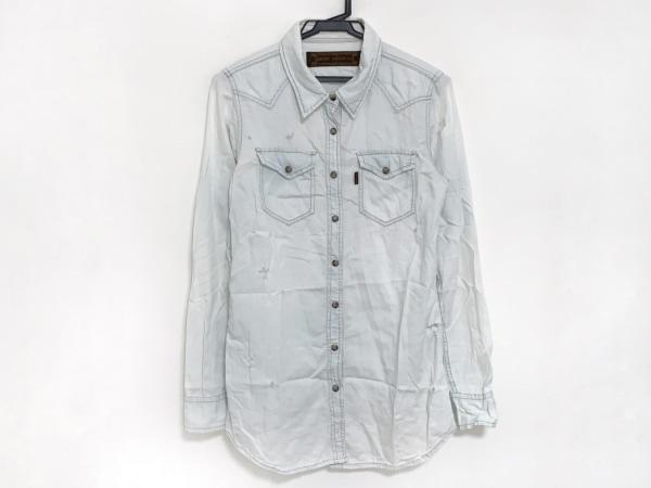G.O.A/goa(ゴア) 長袖シャツ サイズF レディース ライトブルー ダメージ加工